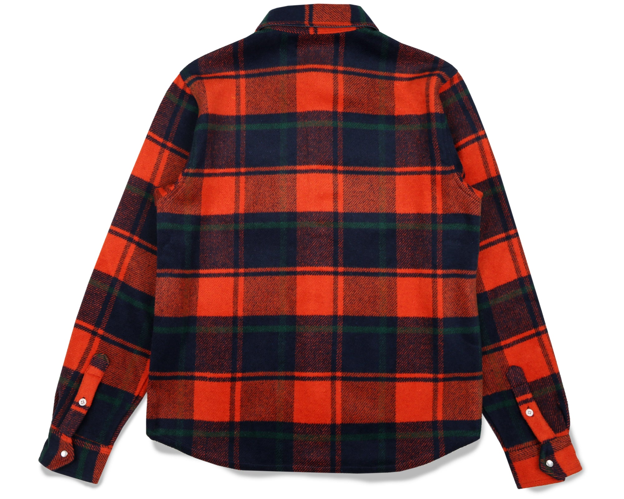 HEAVY CHECK SHIRT - ORANGE