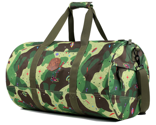 Billionaire Boys Club Pre-Fall  18 SPACE CAMO DUFFLE BAG - OLIVE ... 2ef4219adb1