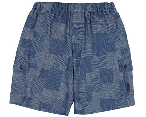Billionaire Boys Club Spring '19 PATCHWORK DENIM SHORT - BLUE