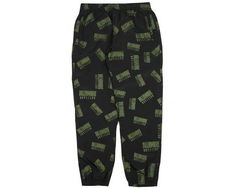 Billionaire Boys Club Pre-Spring '18 REPEAT PRINT TRACK PANT - BLACK