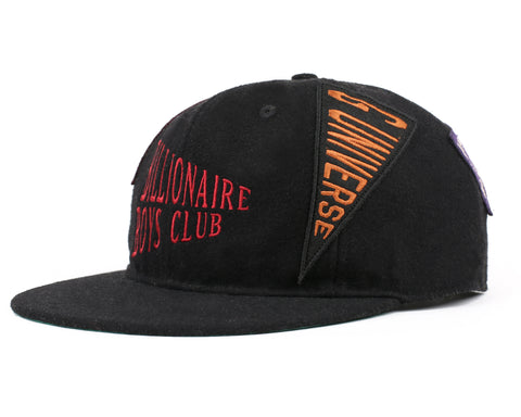 Billionaire Boys Club Fall '18 PENNANT LOGO 6-PANEL CAP - BLACK