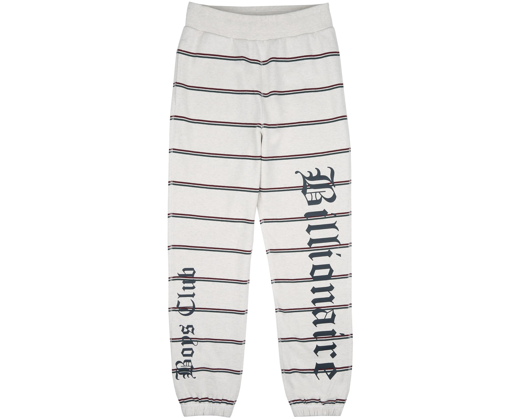 STRIPED SWEATPANT - WHITE MARL