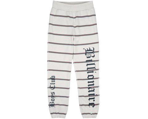 Billionaire Boys Club Pre-Spring '19 STRIPED SWEATPANT - WHITE MARL