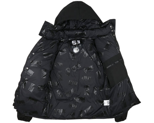 VIKINGS CHENILLE DOWN JACKET - BLACK