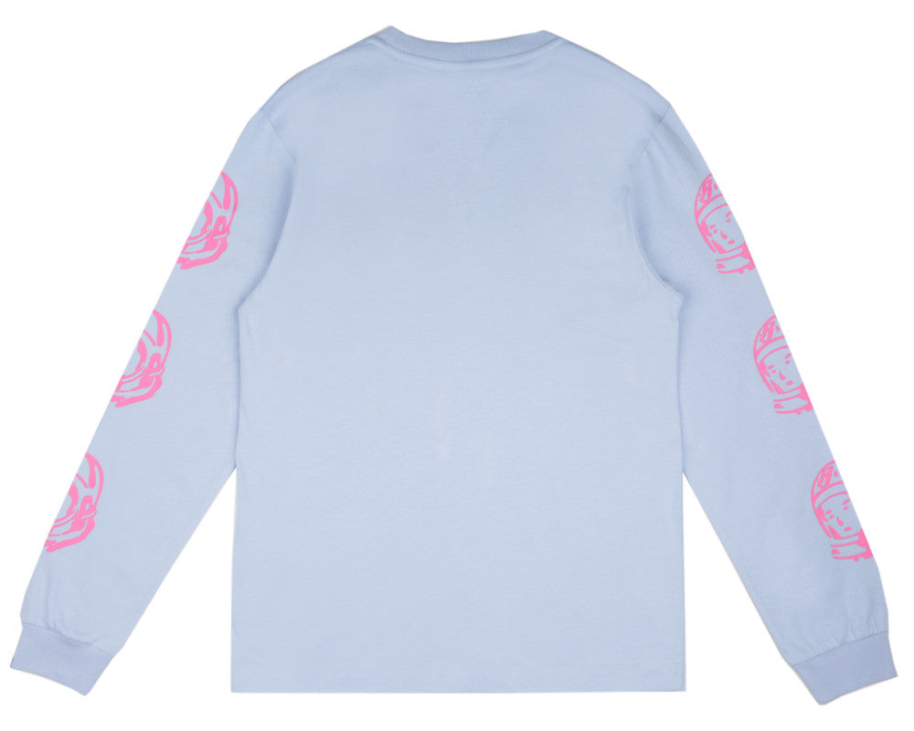 Billionaire Boys Club Spring '17 HELMET PRINT L/S T-SHIRT - LIGHT BLUE