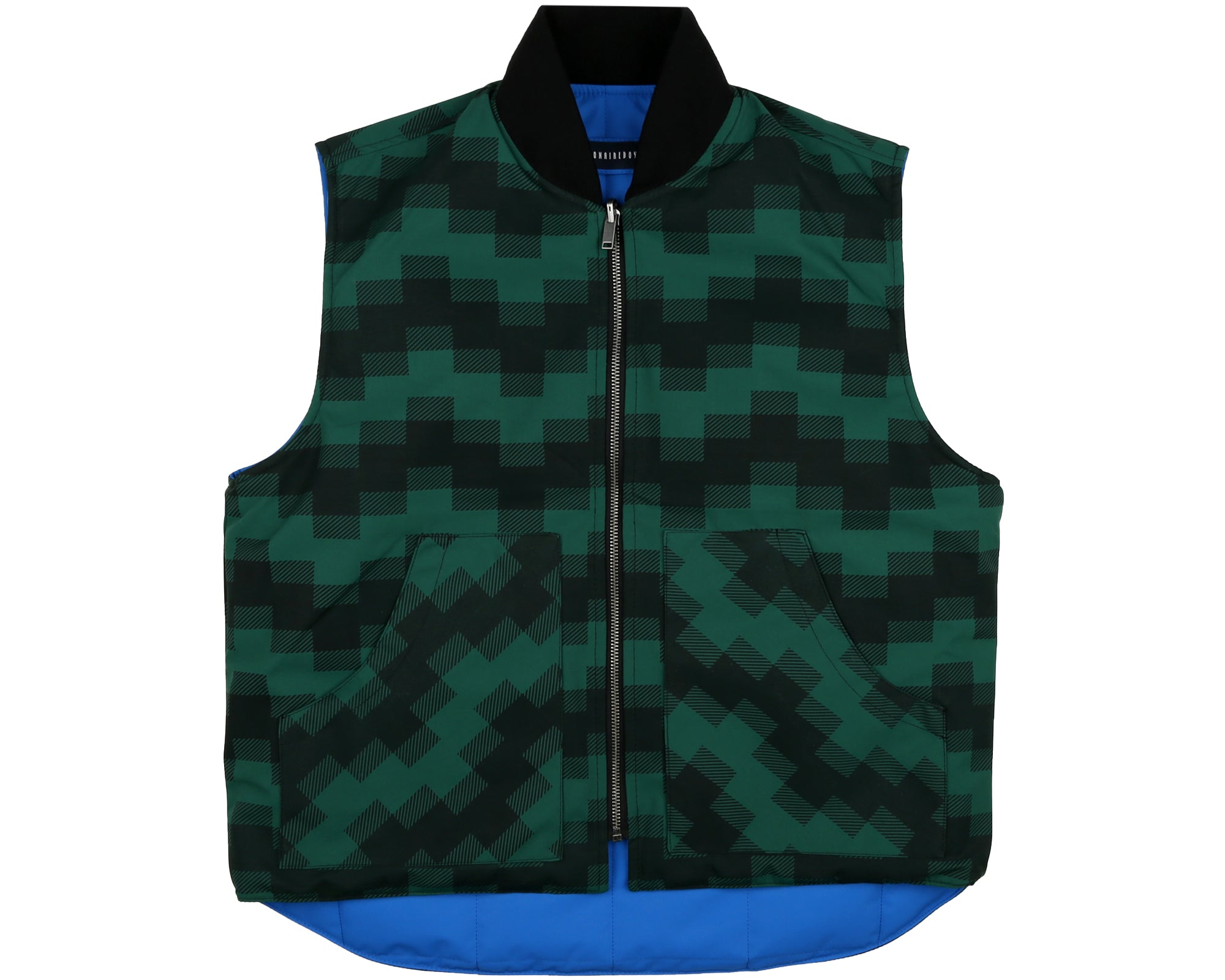 REVERSIBLE PADDED WORK VEST - BLUE