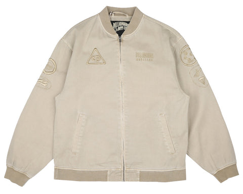 Billionaire Boys Club Fall '17 OVERDYE COTTON BOMBER JACKET - SAND