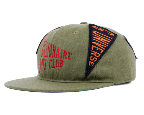 Billionaire Boys Club Fall '18 PENNANT LOGO 6-PANEL CAP - OLIVE