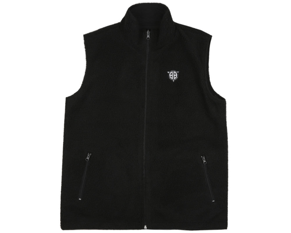 Billionaire Boys Club Spring '17 REVERSIBLE FLEECE GILET - BLACK