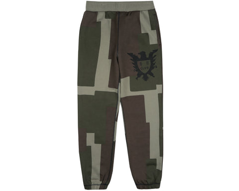 Billionaire Boys Club Spring '19 OVERDYED PATCHWORK SWEATPANT - OLIVE