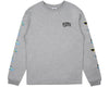 Billionaire Boys Club Pre-Fall '17 VACATION PRINT L/S T SHIRT - HEATHER GREY
