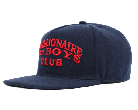 Billionaire Boys Club Fall '18 MELTON WOOL SNAPBACK CAP - NAVY