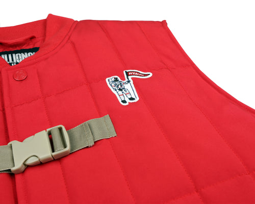 PADDED LIFESAVER VEST - RED