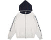 Billionaire Boys Club Pre-Spring '19 CONTRAST STRIPE ZIP THROUGH HOOD - WHITE MARL
