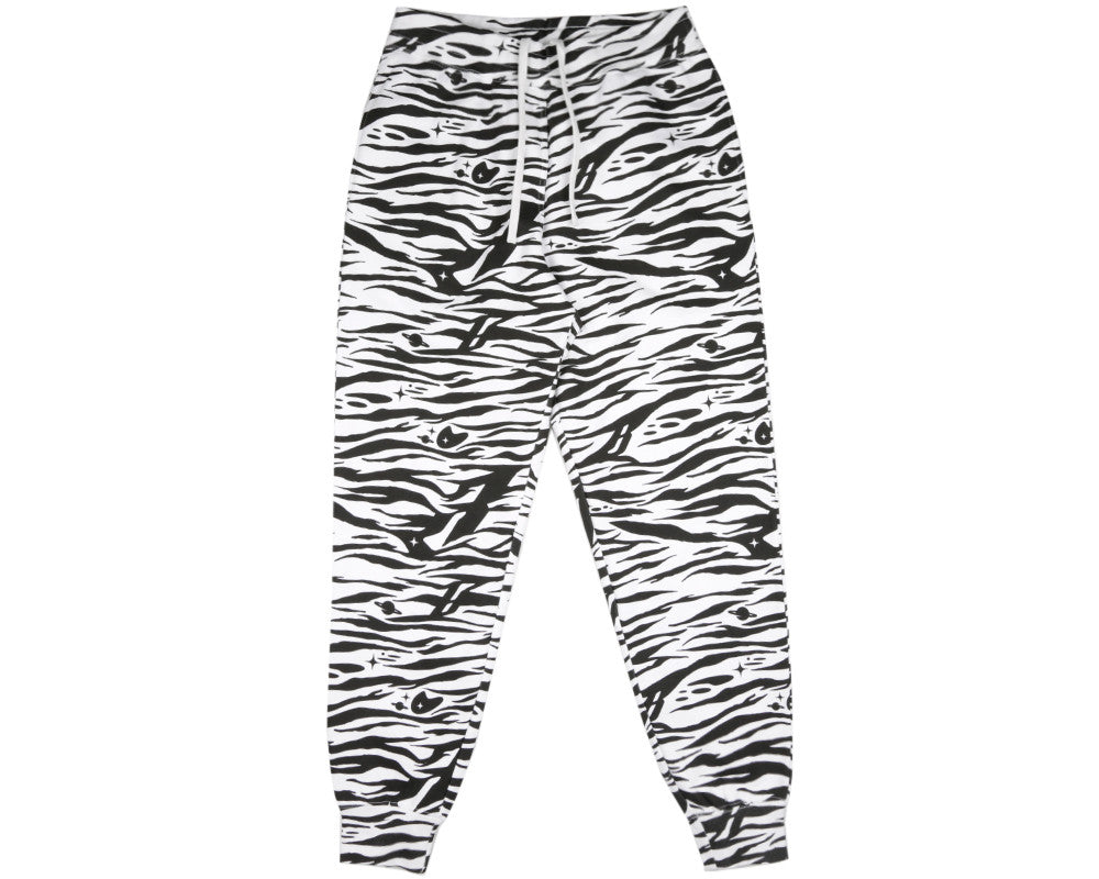 Billionaire Boys Club Spring '17 ZEBRA CAMO ALL-OVER PRINT SWEATPANTS - WHITE