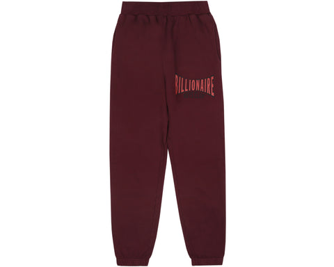 Billionaire Boys Club Pre-Spring '19 RACING LOGO SWEATPANT - BURGUNDY
