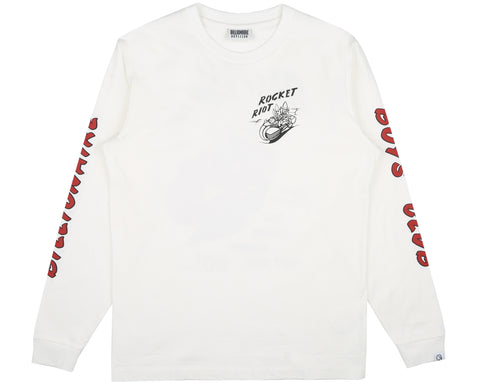 Billionaire Boys Club Spring '19 ROCKET RIOT L/S T-SHIRT - BONE