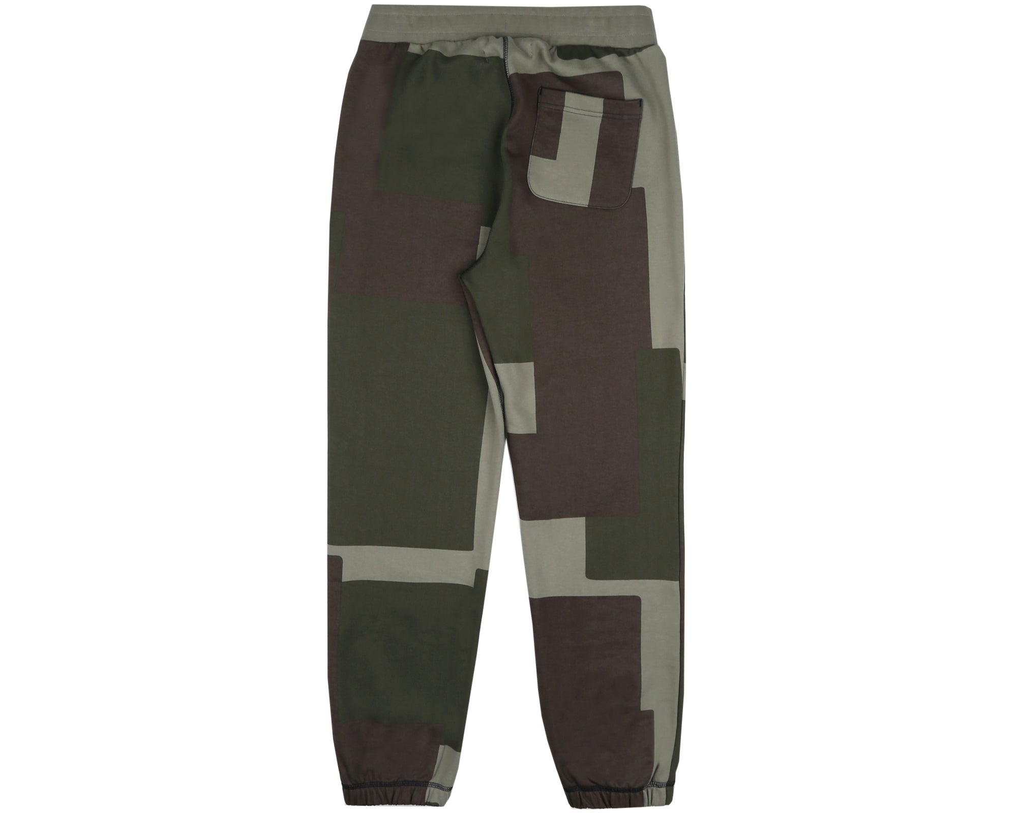 OVERDYED PATCHWORK SWEATPANT - OLIVE