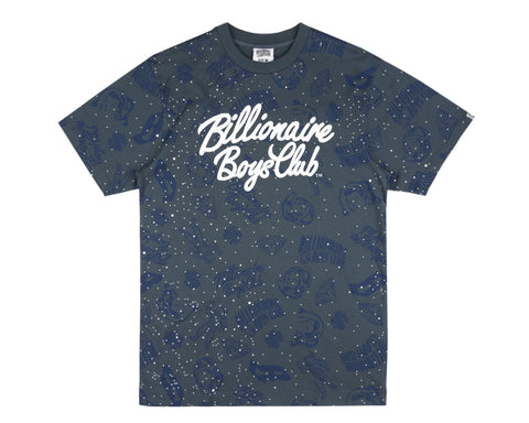 Billionaire Boys Club Spring '17 GALAXY ALL-OVER PRINT T-SHIRT - BLUE