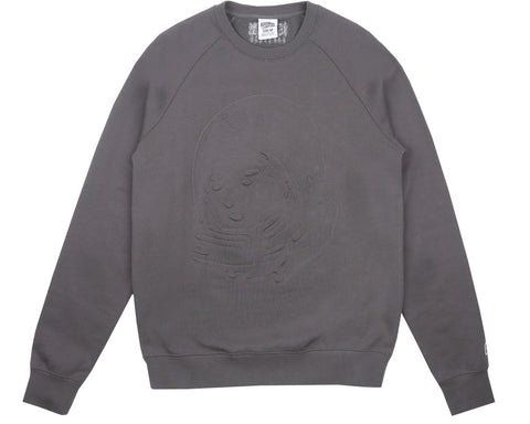 Billionaire Boys Club Fall '17 EMBOSSED LOGO CREWNECK - FLAT GREY