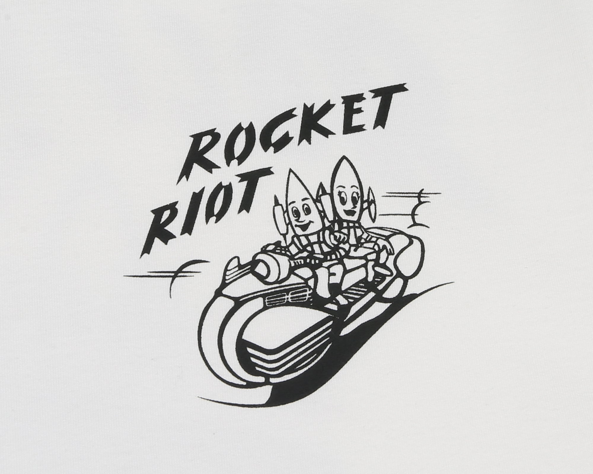 ROCKET RIOT L/S T-SHIRT - BONE