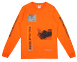 Billionaire Boys Club Pre-Spring '18 FULL SCALE CRASH L/S T-SHIRT - CYBER ORANGE