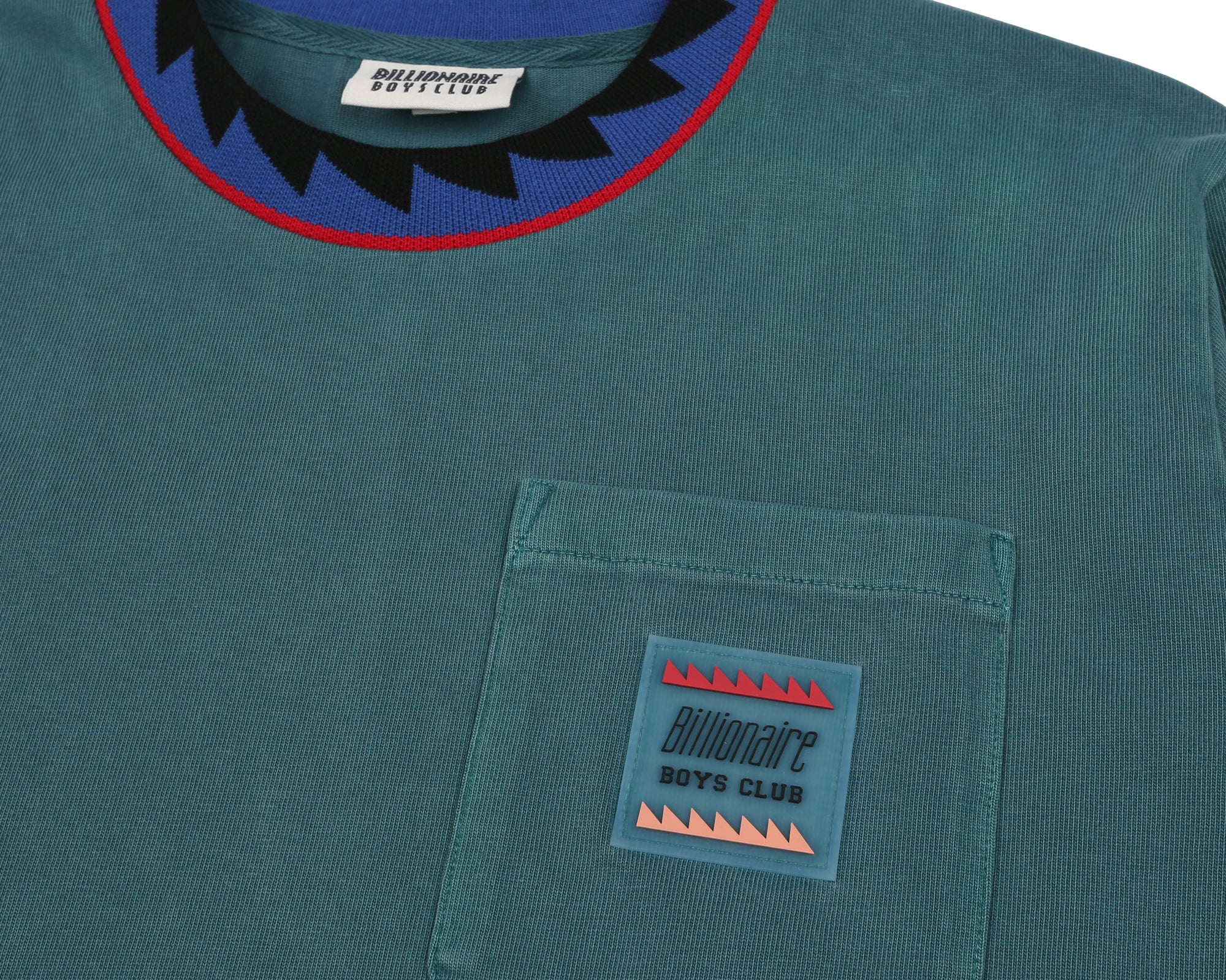 L/S POCKET T-SHIRT - TEAL