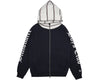 Billionaire Boys Club Pre-Spring '19 CONTRAST STRIPE ZIP THROUGH HOOD - NAVY