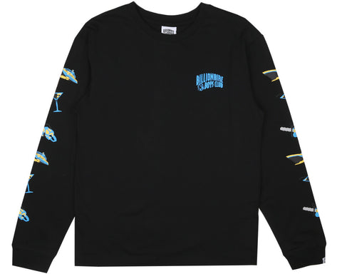 Billionaire Boys Club Pre-Fall '17 VACATION PRINT L/S T SHIRT - BLACK