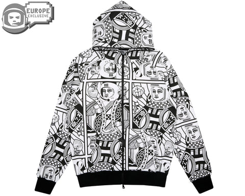 Billionaire Boys Club Spring '18 ALPHA OMEGA SPECIAL HOOD - WHITE/BLACK