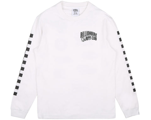 BBCICECREAM MECHANICS L/S T-SHIRT - WHITE