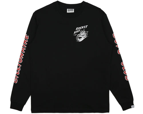 ROCKET RIOT L/S T-SHIRT - BLACK
