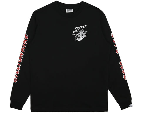 Billionaire Boys Club Spring '19 ROCKET RIOT L/S T-SHIRT - BLACK