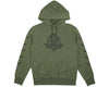 Billionaire Boys Club Spring '17 COMMANDER OVERDYED HOODED SWEAT - OLIVE