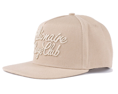 Billionaire Boys Club Spring '17 SCRIPT LOGO SNAPBACK - OXFORD TAN