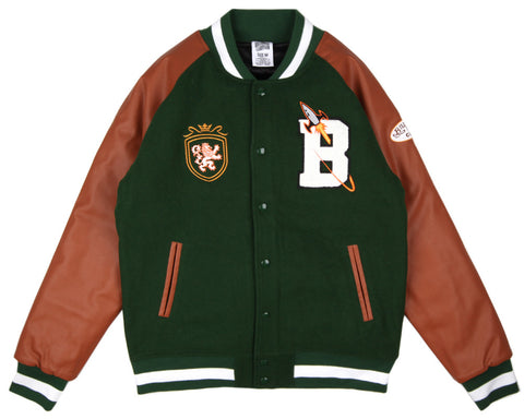 Billionaire Boys Club CLUB VARSITY JACKET - FOREST GREEN/TAN
