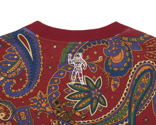 PAISLEY ALL OVER PRINT T-SHIRT - RED