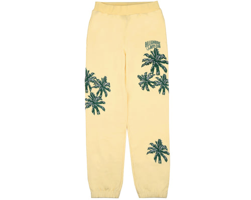 PALM EMBROIDERED SWEATPANT - LEMON
