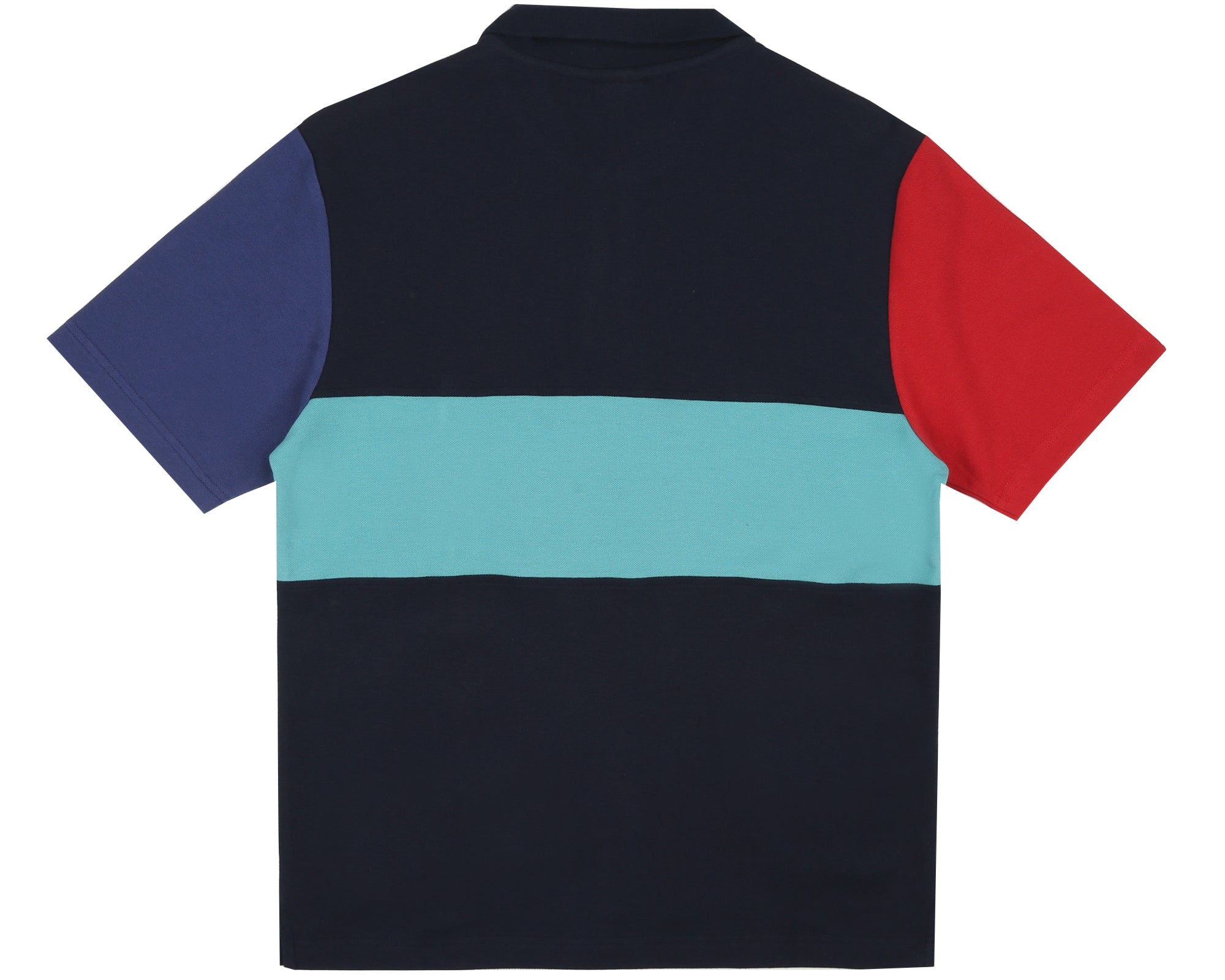 CUT & SEW POLO SHIRT - BLUE