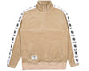 Billionaire Boys Club Japan Spring '19 VELOUR 1/2 ZIP TRACK TOP - TAN