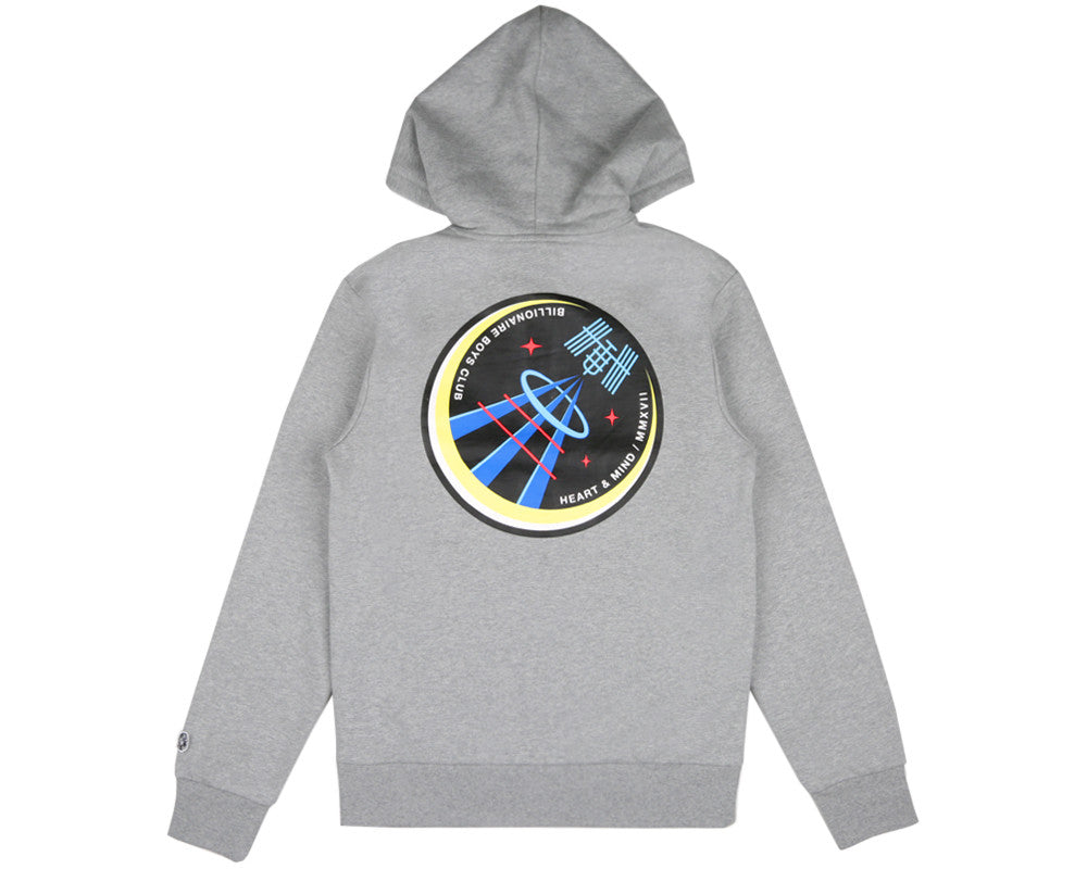 Billionaire Boys Club Spring '17 SATELLITE FLIGHT ZIP-THROUGH HOODIE - HEATHER GREY