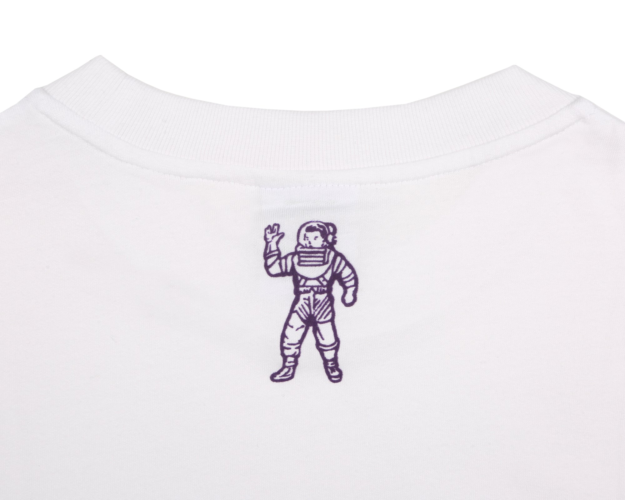 COLLEGE FLOCK PRINT T-SHIRT - WHITE