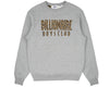 Billionaire Boys Club Pre-Fall '18 STRAIGHT LOGO REVERSIBLE CREWNECK - HEATHER GREY