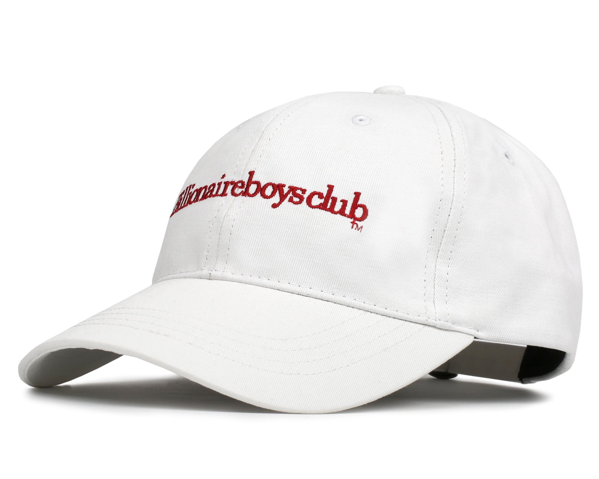 EMBROIDERED CURVE VISOR CAP - WHITE