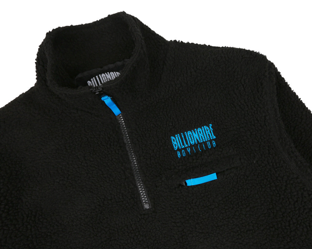 Billionaire Boys Club Fall '17 OVERSIZED 1/4 ZIP SHERPA FLEECE - BLACK