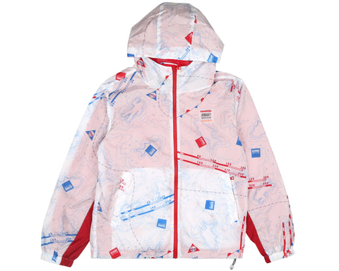 Billionaire Boys Club Pre-Fall '19 NAUTICAL PRINT NYLON WINDBREAKER - WHITE