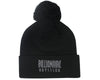 Billionaire Boys Club Pre-Spring '18 KNITTED BOBBLE BEANIE - BLACK