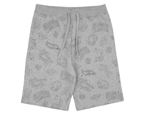 Billionaire Boys Club Spring '17 GALAXY ALL-OVER PRINT SHORTS - HEATHER GREY