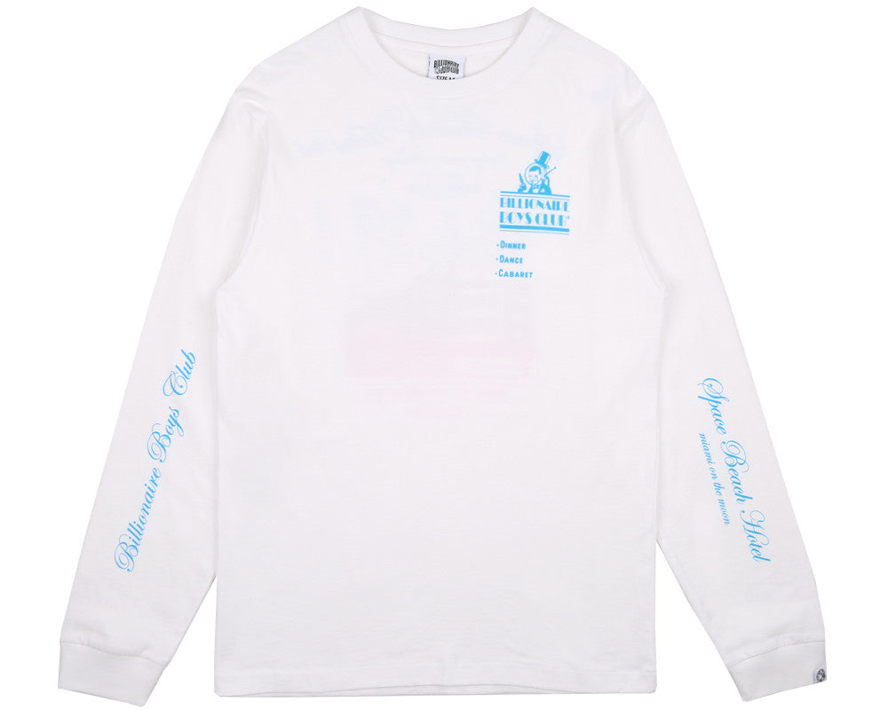 Billionaire Boys Club Pre-Fall '17 SPACE BEACH HOTEL L/S T SHIRT - WHITE