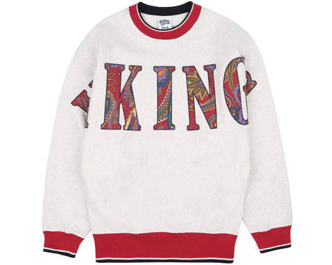 Billionaire Boys Club Fall '18 VIKINGS APPLIQUE CREWNECK - WHITE